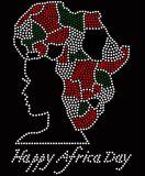 Delta personalizado Sigma Theta Rhinestone Hotfix menina afro Transferência para decoração de vestuário