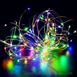 La energía solar de cobre de LED RGB de Cadena 100 LED LED estrellado de la luz de la cadena