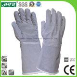 Из натуральной кожи крупного рогатого скота термостойкий промышленной безопасности для тяжелого режима работы перчатки для сварки