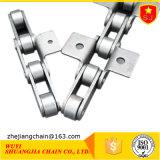La cadena transportadora de paso corto con accesorios