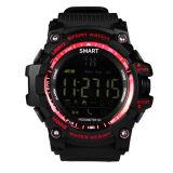 メンズ軍のスマートな腕時計Bluetooth Ex16はSMSのメモのスポーツの腕時計を防水する