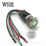 Interruttore di pulsante elettrico del metallo di Wnre con il LED