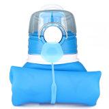 1L Botella de agua plegable de silicona personalizadas Sport la botella de agua Portable