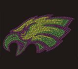 Os falcões verdes Rhinestone a transferência de calor