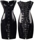 De Vrouwen Shapewear Bustier Bodys van het Korset van pvc Steampunk van de manier