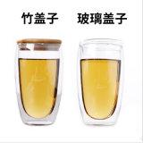 350ml/450ml Double-Wall良質の安いホウケイ酸塩のガラスビンのコーヒー・マグのコップ