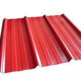 Préfabriqué/tôle d'acier pour toit de métal de couleur et de revêtement mural utilisés comme matériaux de construction en acier