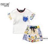 L'usure d'enfants garçons costume à manches courtes occasionnel deux - pièce de la mode d'usure d'été