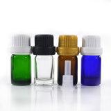 5 ml mini bouteille en verre coloré liquide huile essentielle de bouteilles en verre bouteille avec bouchon inviolable et pipette en verre
