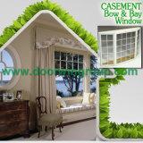 Aluminio de alta calidad Ventana de madera, madera de aluminio de la bahía y ventanas con arco Hermosa Luz Dividido Grille