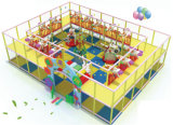 Comerciales en interiores de plástico de los niños Parque infantil Jungle Gym (TY-09402)