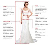 花嫁の服の長いイブニング・ドレスM13522の灰色のレースのサテンの母