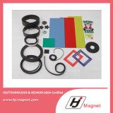Super starker kundenspezifischer permanenter /NdFeB-Gummimagnet des Neodyms N35-52 in China