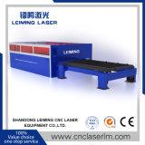 machine de découpage de laser de fibre de pleine couverture de 3000W Lm3015h pour la coupure d'acier de Caron