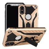 Оптовая торговля встроенная подставка утюг Гибридный чехол для мобильного телефона iPhone X