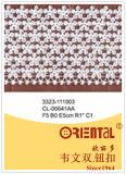 Merletto squisito anelastico Cl-00641AA di modo bianco