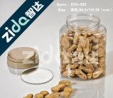 L'animale domestico trasparente della noce può latta aperta facile della caramella dell'animale domestico di plastica rotondo del vaso