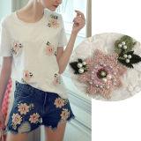 Flores de encaje bordado ropa Pearl parche T-Shirt Jeans decoración decoración vestido Blusa insignia Appliqued