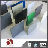 Fabrication en plastique de feuille de PVC de solide dur de blanc gris
