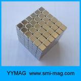 5*5*5mm 216PCS revestidos a ouro Cube N35 Bloquear o magneto de neodímio
