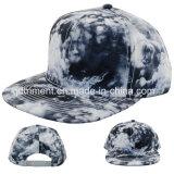 Gorra de béisbol plana del dril de algodón del algodón de la impresión del chapoteo de Bill (TMFL0715)