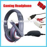 Receptor de cabeza del juego de los auriculares del juego