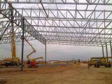 Grande magazzino della struttura d'acciaio della costruzione prefabbricata industriale della tettoia
