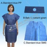 Мантия Nonwoven хирурга стационара PP SMS PP+PE медицинского устранимая терпеливейшая