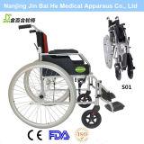Foldable 야외에서 알루미늄 합금 수동 휠체어