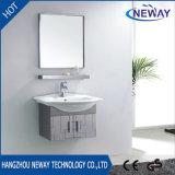 Klassischer Wand-Edelstahl-Badezimmer-Eitelkeits-Schrank mit Spiegel