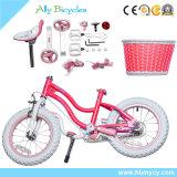 Bambini della bici di sport dei capretti che eseguono bicicletta per il triciclo di colore rosa di gita