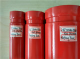 Sch40 tubulação de aço vermelha de luta contra o incêndio da extremidade do sulco da pintura do UL FM