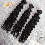 Commerce de gros de produits capillaires vague profonde Tissage de cheveux humains indiens Remy