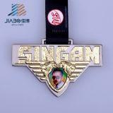 Медаль сувенира металла золота и серебра изготовленный на заказ для оптовой продажи