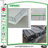 Diviseur de clôture de fil en métal chromé pour Supermarché