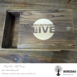 Color de madera más oscuro por encargo de Hongdao que resbala el rectángulo de madera de la tapa para el _E de empaquetado del regalo