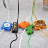 De aangepaste Plastic Kledingstuk In reliëf gemaakte Hangende Markeringen van de Verbinding van Silcone van Tabletten