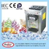 Máquina de sorvete suave de mesa de aço inoxidável de três sabores