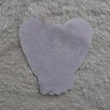 Disegno del cuore con il diamante Pringting Pacth di lustro per abito tessuto