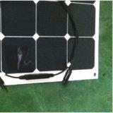 Panneau solaire stratifié par animal familier transparent 100W de film mince semi flexible de Sunpower