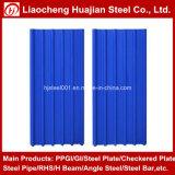 Placa de telhadura de aço revestida mergulhada quente do zinco com o aço galvanizado corrugado