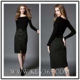 Form-Frauen-reizvolle Hüllen-lange Hülsen-Partei-Kleider