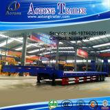 2-3 반 차축 50tons 40FT 평상형 트레일러 콘테이너 Tranport 트레일러