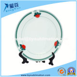 "Green Berry Border 8 ""Rim Plates Sublimation Ceramic Plate"