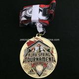 Medallas corrientes de la competición de la aduana como recompensas