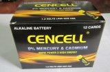 1.5V Droge Batterij van het Mangaan van het Jasje van de Folie van de Grootte van de AMERIKAANSE CLUB VAN AUTOMOBILISTEN de Alkalische