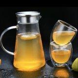 2L高いホウケイ酸塩ガラスの水差し水やかんの冷たい飲料水の水差し