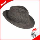 서류상 밀짚 모자 접을 수 있는 중절모 모자