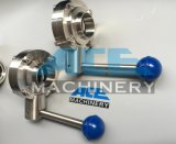 Сваренная нержавеющей сталью клапан-бабочка пищевой промышленности (ACE-DF-K6)