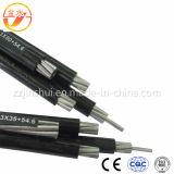 Alimentation électrique à plat en polyéthylène réticulé Flex isolés en PVC souple Antenne électrique Bundle passage Quadruplex Duplex câble ABC en aluminium